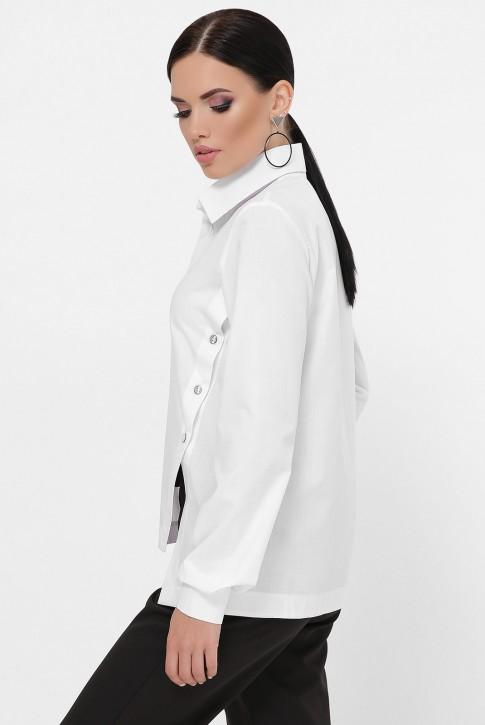 Рубашка с разрезами по бокам, белая RB-1785A (фото 2)