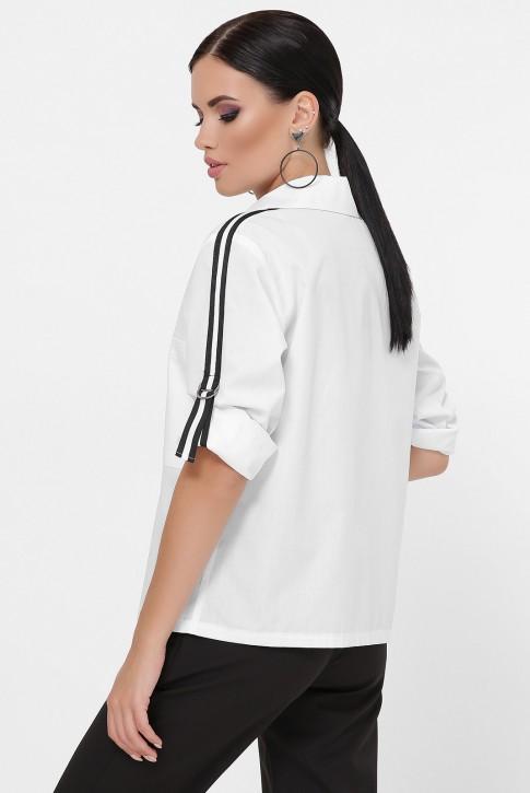Рубашка с рукавами 3/4 и лентами, белая RB-1790A (фото 2)