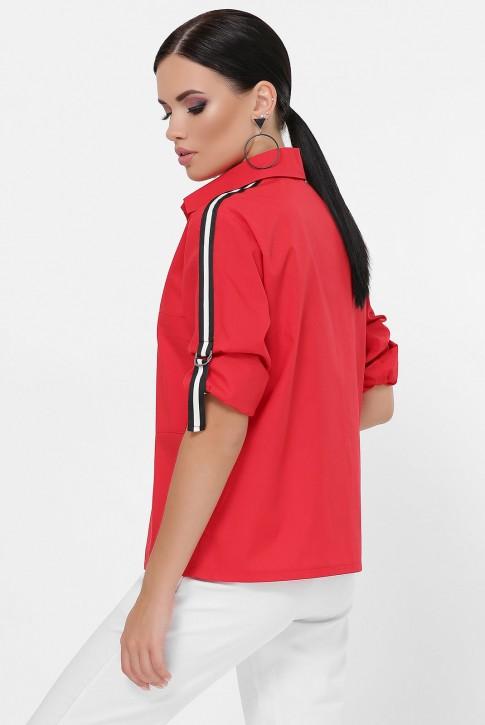Рубашка с рукавами 3/4 и лентами, красная RB-1790D (фото 2)