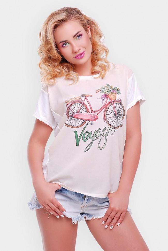 """Стильная летняя женская футболка - """"Air"""" FB-1140Y"""
