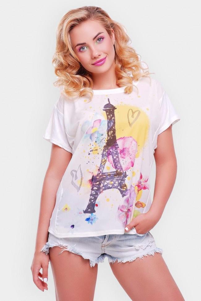 """Стильная футболка с принтом - """"Air"""" FB-1346A"""