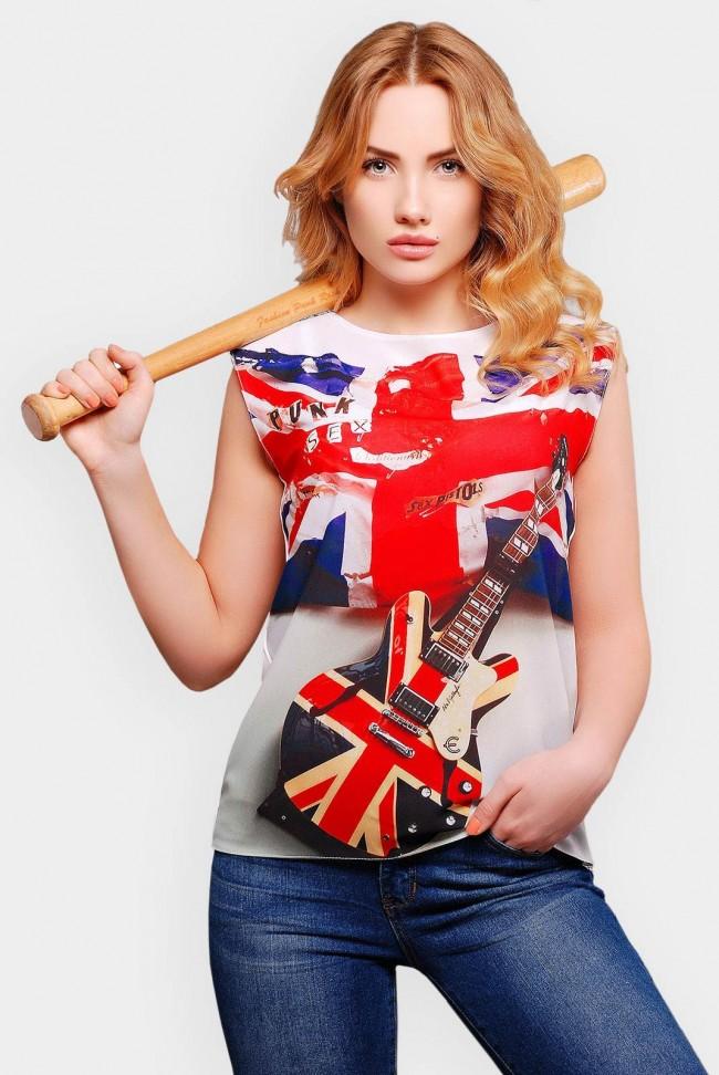 """Футболка c британским флагом """"Classic"""" FB-1308A"""