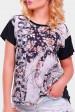 """Черная женская футболка с принтом - """"Air"""" FB-1346D1 (Футболки, #10214)"""