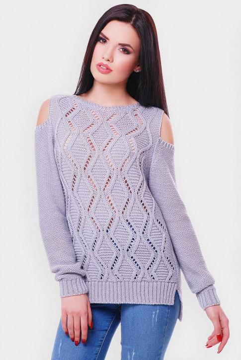 Светло серый женский свитер