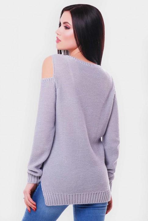 Светло серый женский свитер (фото 2)