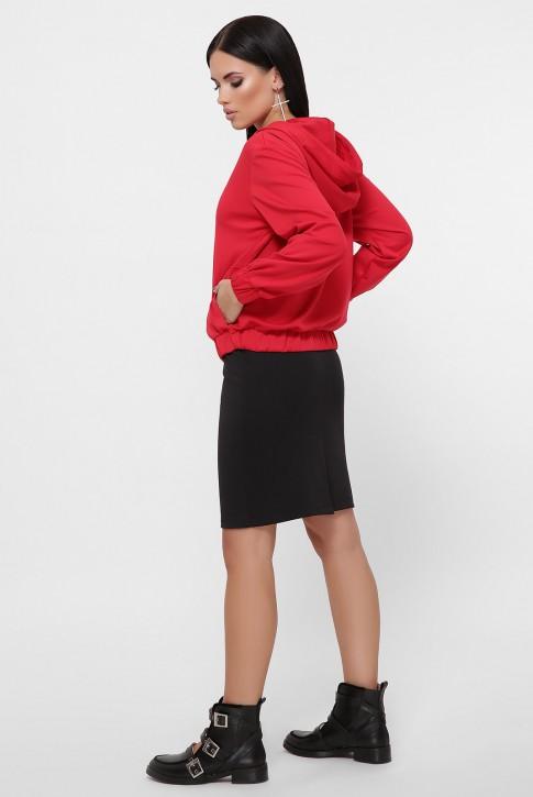 Спортивный юбочный костюм, красный с черным KS-1800A (фото 2)