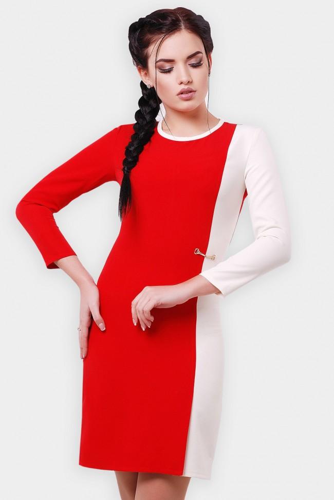 """Двухцветное платье  """"Aster""""PL-1551C"""