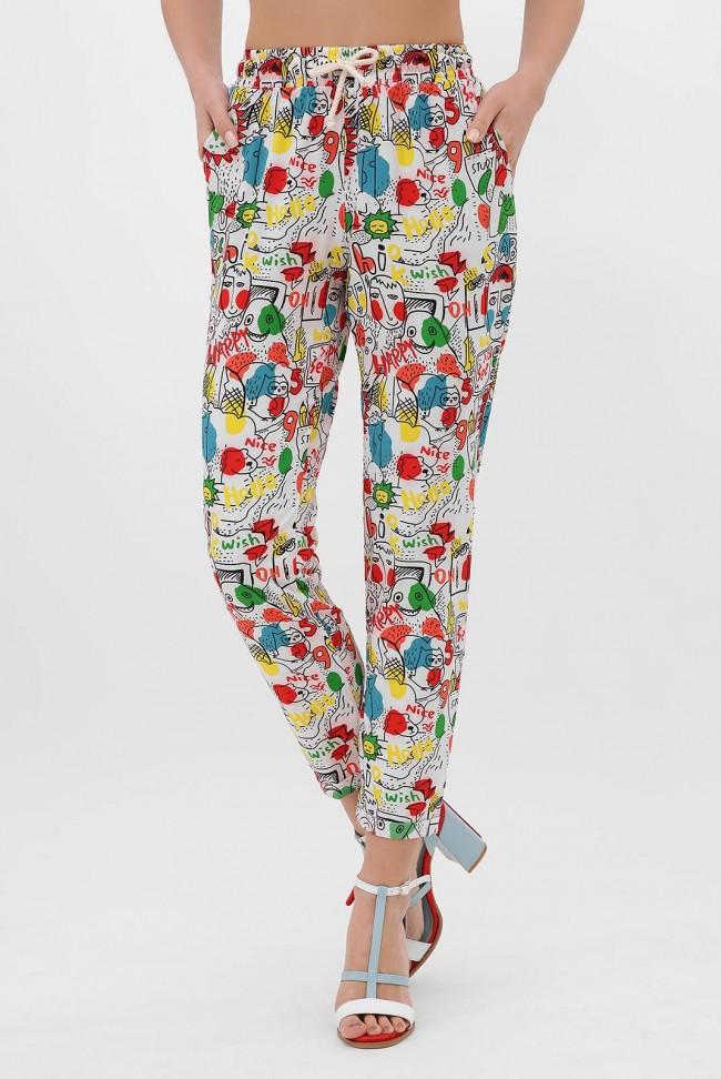 Недорогие женские штаны на лето. SHT-1338E