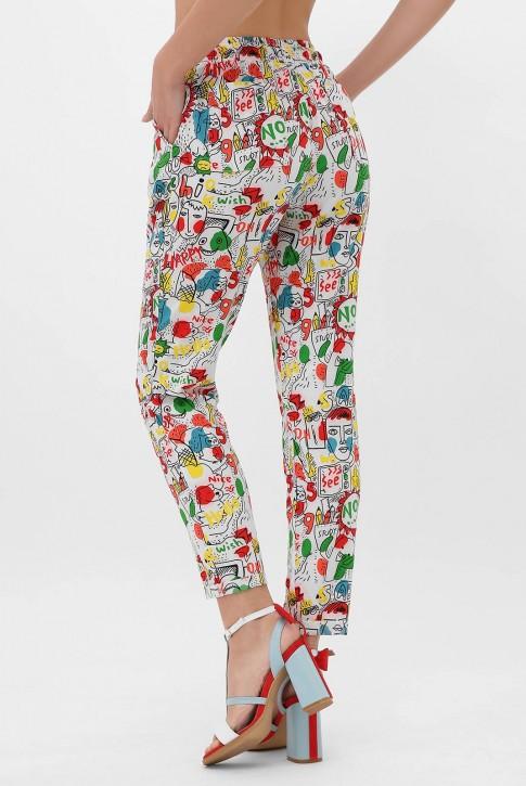 Недорогие женские штаны на лето. SHT-1338E (фото 2)