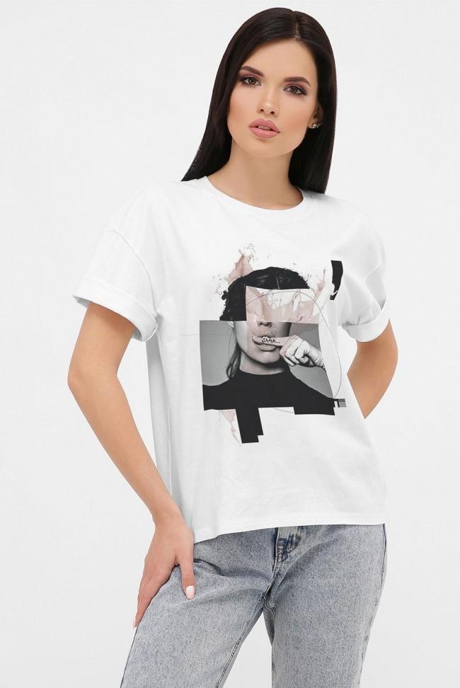 Женская футболка с принтом Shhh. FB-1021