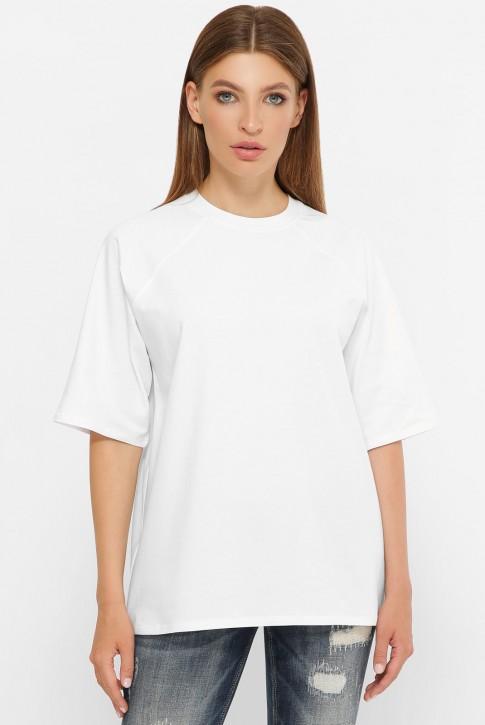 Женская белая футболка реглан без рисунка. FB-00RW