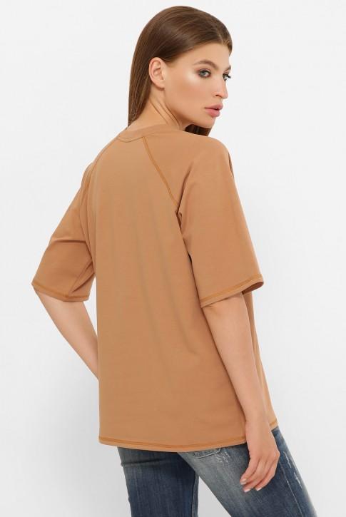 Женская футболка реглан кофейного цвета. FB-00RC (фото 2)