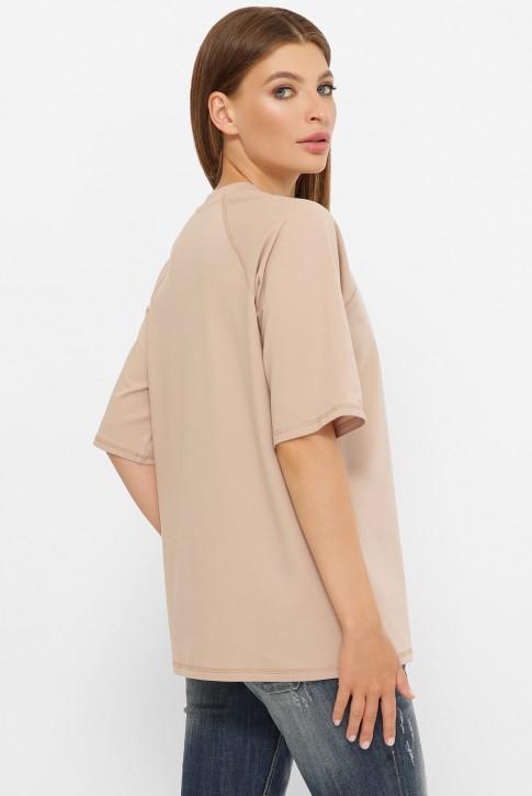 Женская футболка реглан бежевого цвета. FB-00RB (фото 2)