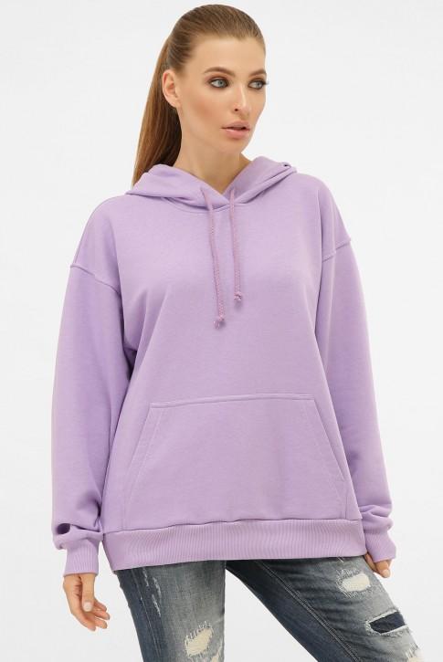 Лиловое женское худи с карманом кенгуру. HD-00KL
