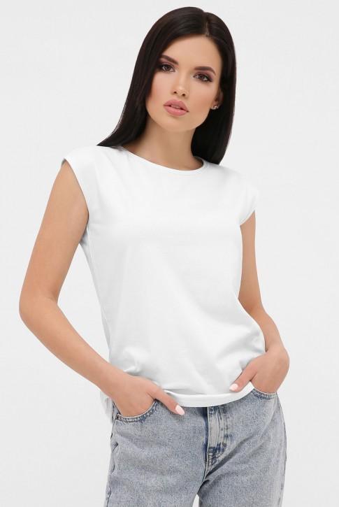 Женская белая футболка без рукавов. FB-00MW