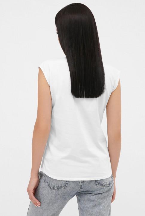 Женская белая футболка без рукавов. FB-00MW (фото 2)