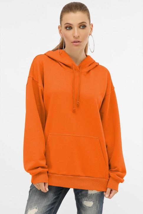 Женское худи с карманом кенгуру, оранжевый HD-00KG