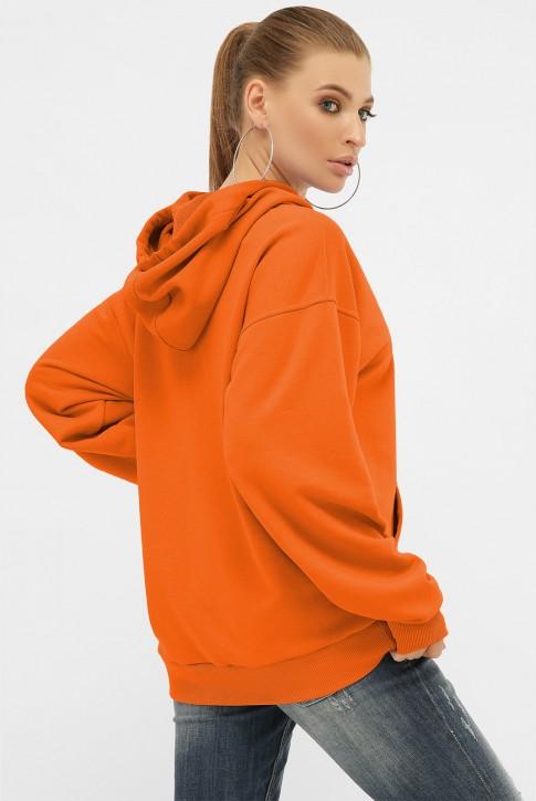 Женское худи с карманом кенгуру, оранжевый HD-00KG (фото 2)