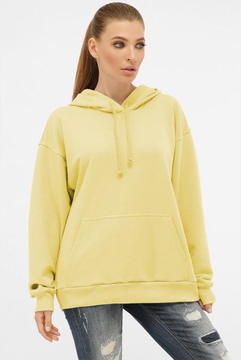 Женское худи с карманом кенгуру, желтый HD-00KY