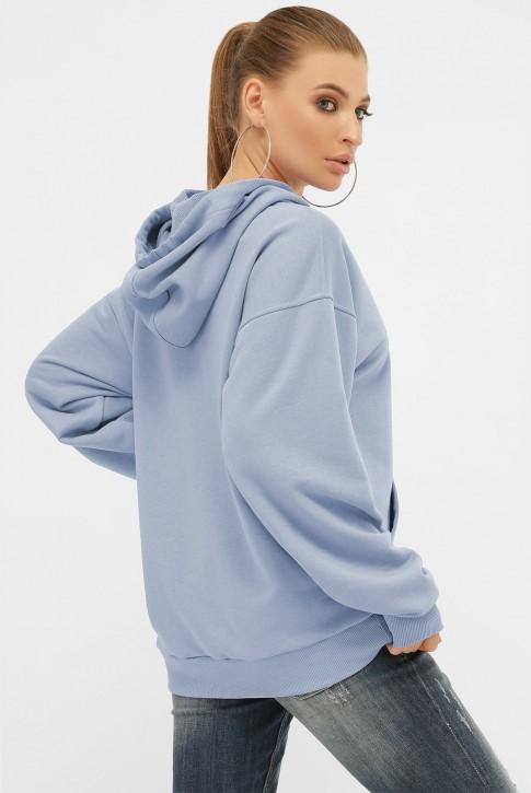 Женское худи с карманом кенгуру, голубой HD-00KU (фото 2)