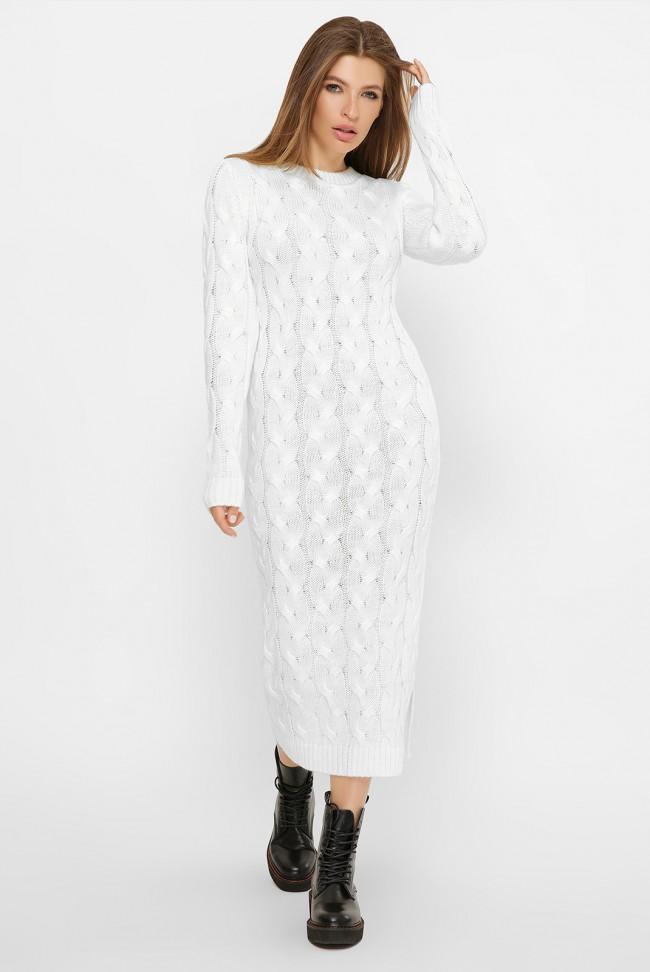 Белое вязаное платье LOLO - VPD0014