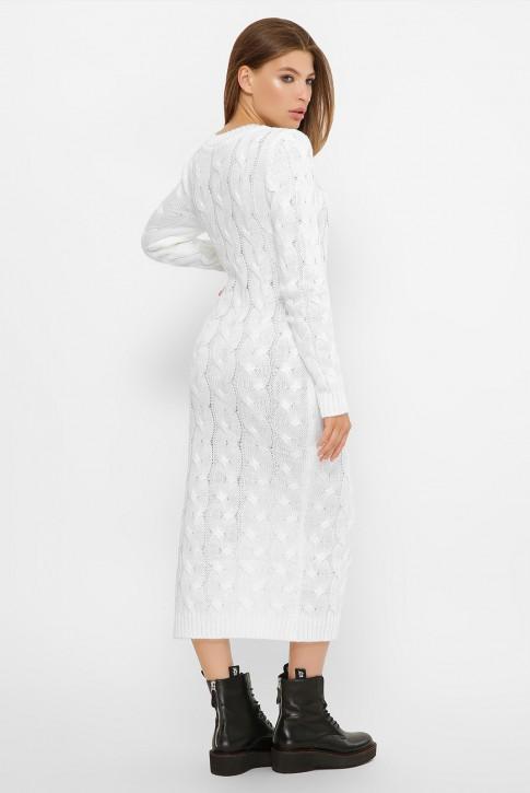 Белое вязаное платье LOLO - VPD0014 (фото 2)