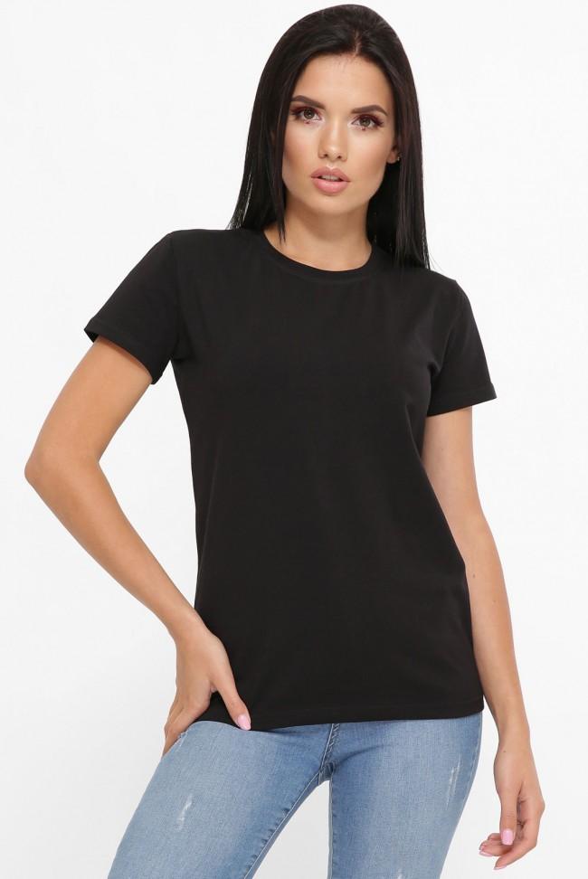 Черная футболка женская без принта FB-00CK