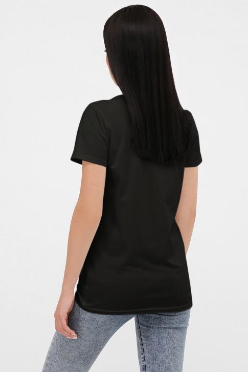 Черная футболка женская без принта FB-00CK (фото 2)
