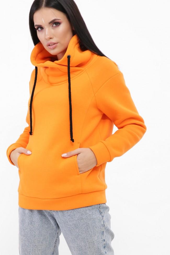 Свитшот воротник-хомут утепленный, оранжевый SV-10VG