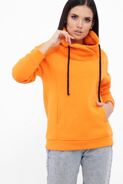 Свитшот воротник-хомут утепленный, оранжевый SV-10VG (фото 2)