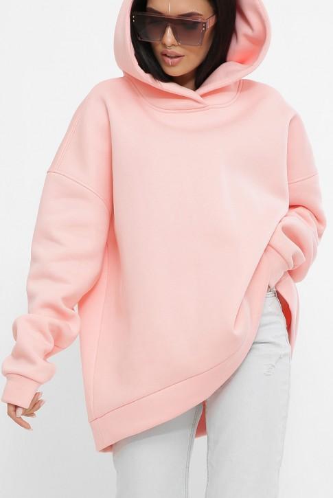 Теплый хлопковый худи оверсайз, розовый HD-10ZP