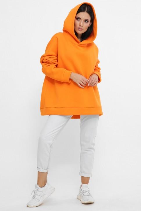 Теплый худи оверсайз из хлопка, оранжевый HD-10ZG