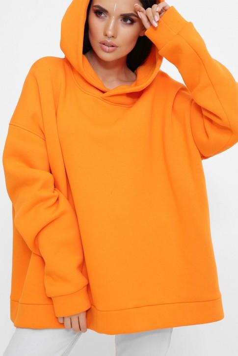 Теплый худи оверсайз из хлопка, оранжевый HD-10ZG (фото 2)