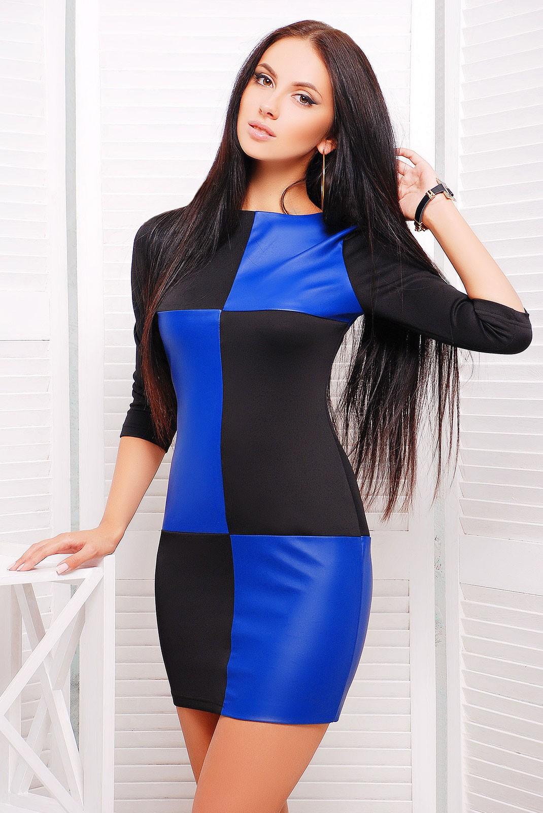 Платья комбинированные цвета