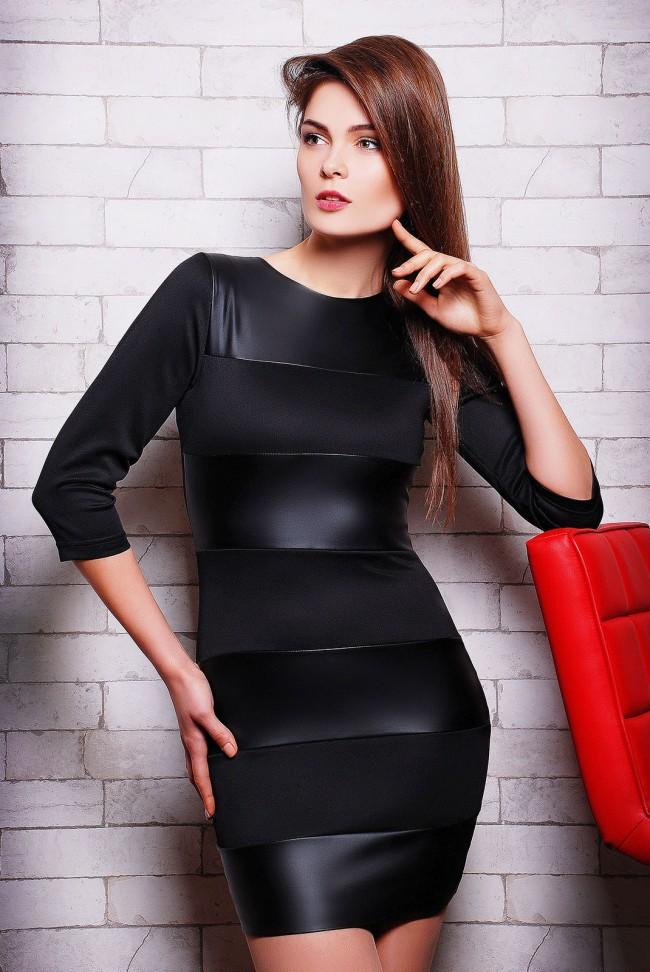 """Черне платье """"Comby"""" PL-1122D"""