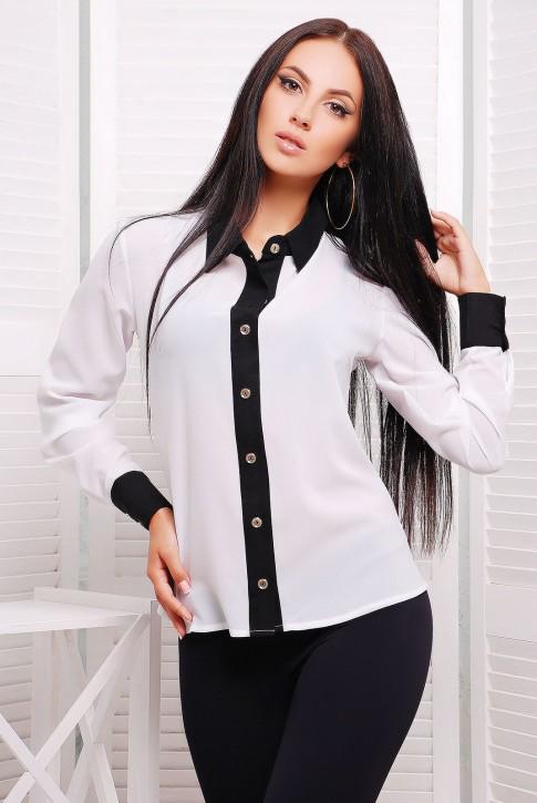 "Белая рубашка из шифона - ""Классика"" RB-1228A"