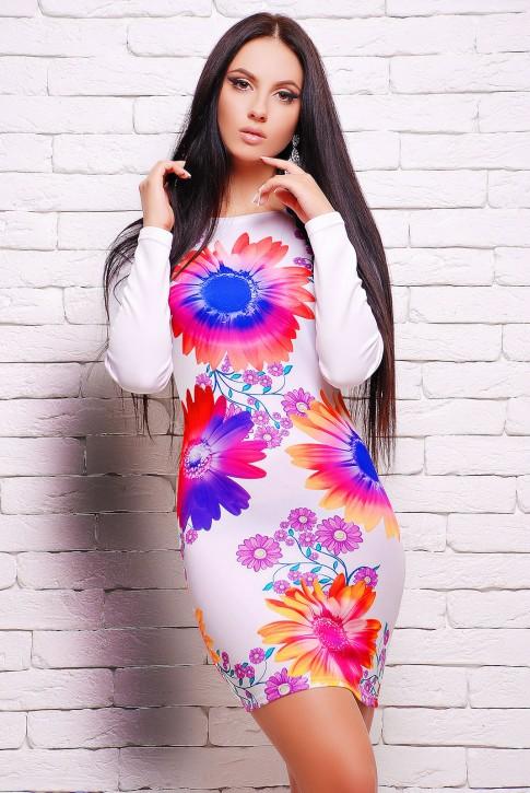 """Облегающее платье с цветами - """"Style"""" (PL-1040P)"""