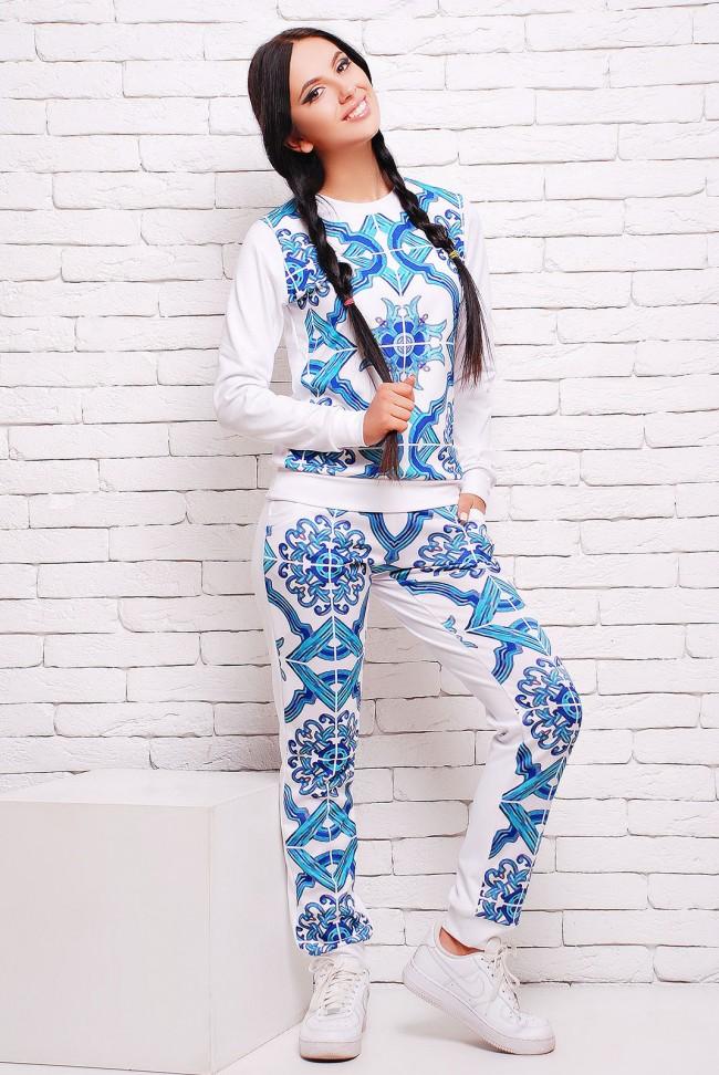 Спортивный костюм костюм синяя майолика (SK-1276F)