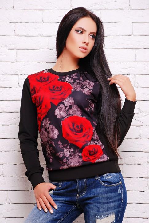 Теплый свитшот розы (KF-1273FL)