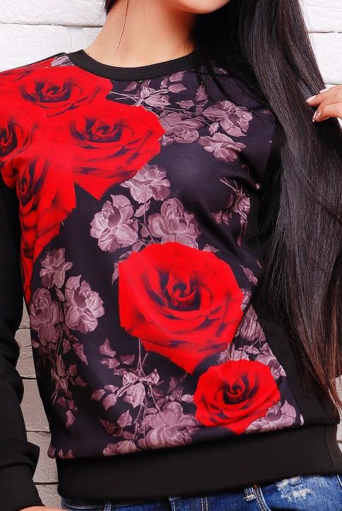 Теплый свитшот розы (KF-1273FL) (фото 2)