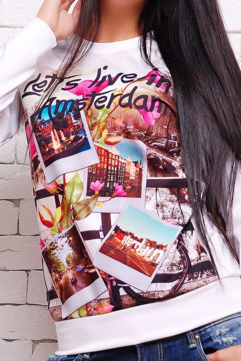 Свитшот Live in Amsterdam (KF-1283D) (фото 2)