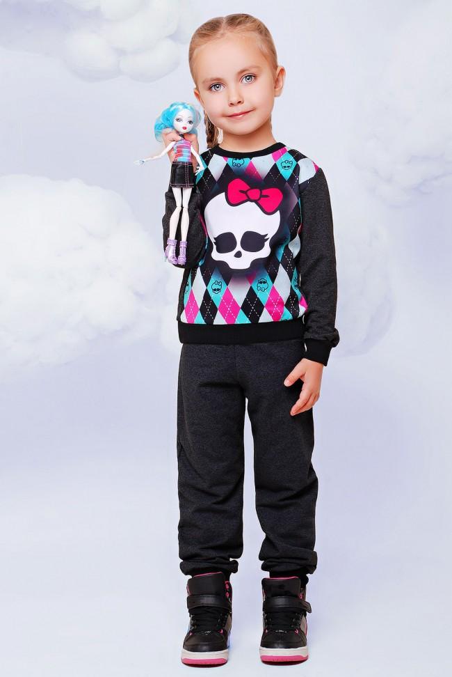 "Костюм, Monster High принт - ""Kids"" KS-014"