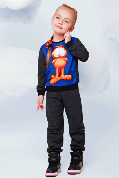 """Детский спортивный костюм, Гарфилд принт - """"Kids"""" KS-018"""