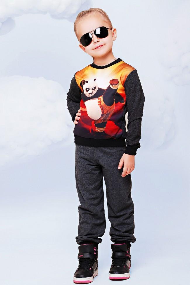 "Костюм детский, Кунг-фу панда принт -  ""Kids"" KS-023"
