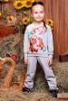 """Детский светло-серый костюм, Чип и Дейл принт - """"Kids"""" KS-030 (Детские костюмы, #3208)"""