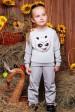 """Детский костюм """"Kids"""", Кунг-фу панда принт,светло-серый - KS-035 (Детские костюмы, #3223)"""
