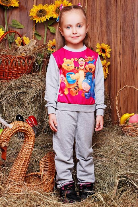 "Костюм детский ""Kids"" KS-045 - оптом, Winnie the Pooh принт"