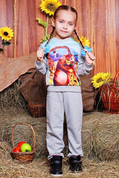 """Детский модный спортивный костюм - """"Kids"""" KS-060, принт Мадагаскар"""