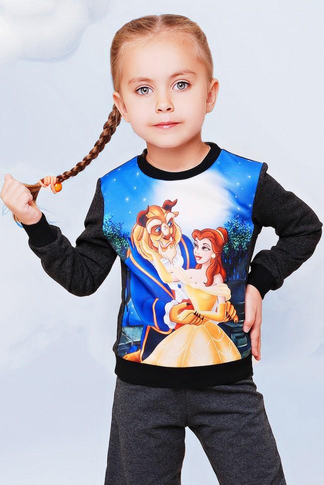 "Свитшот детский ""Красавица и чудовище"" - ""Kids"" KF-073"