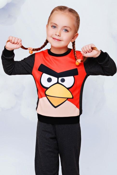 "Детский свитшот ""Angry birds"" - ""Kids"" KF-074"